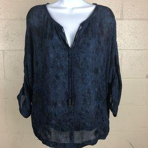 Michael Kors Women's Blouse Top Size S Blue DO22